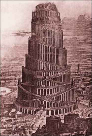 Tower Babel Cartoon