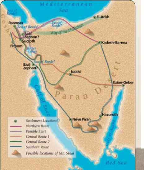 Route Israels Exit From Egypt