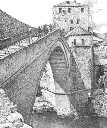 Mostar Old Bridge Destroyed